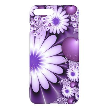 Falling in Love Abstract Flowers & Hearts Fractal iPhone 7 Plus Case