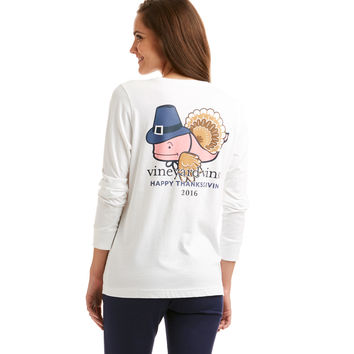 Long-Sleeve Turkey Whale Pocket Tee