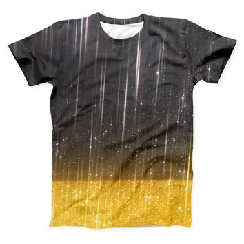 The Scratched Surface with Glowing Gold Sparkle ink-Fuzed Unisex All Over Full-Printed Fitted Tee Shirt
