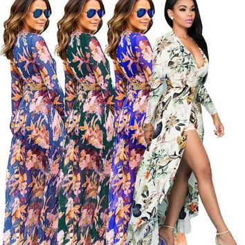 2017  Woman summer Sexy chiffon Jumpsuit Romper Short Trousers Bodycon Playsuit new style plus size S-3XL