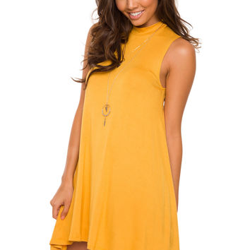 Shop Priceless Laila Dress - Mustard