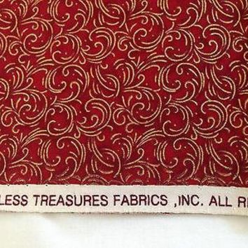 TIMELESS TREASURES CHRISTMAS - COTTON FABRIC - 1/2 YARD
