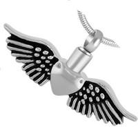 """Cremation Jewelry Stainless Steel """"Wild at Heart"""" Pendants"""