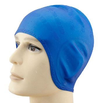 New Unisex Adult Silicone Swimming Cap  One Size Fit All