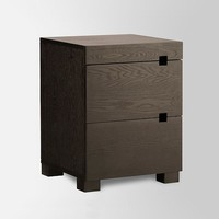 Square Cutout Nightstand - Chocolate