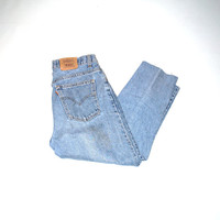 stone wash vintage levis jeans 90s grunge cropped levis mom jeans size 11