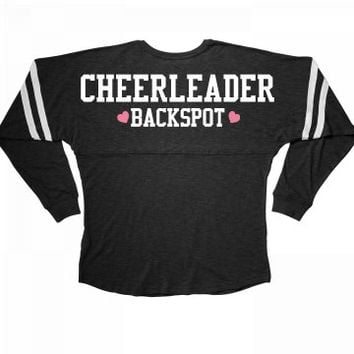 Cute Cheerleader Backspot Girl
