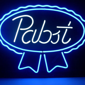 Pabst Blue Ribbon Lager Ale Neon Sign