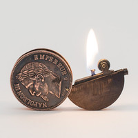 Working Vintage Napoleonic Copper Coin Pocket by LuminousWhatnots