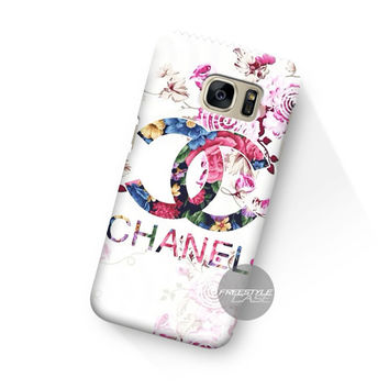 Art Chanel Floral  Samsung Galaxy Case Cover Series