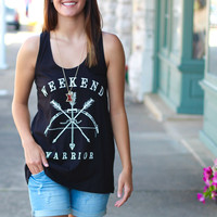 Weekend Warrior Tank {Black}