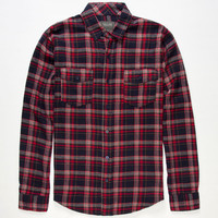 Valor Orion Mens Flannel Shirt Navy  In Sizes