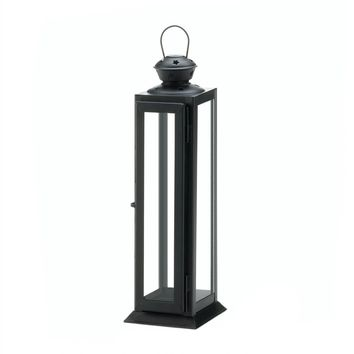 Iron Tall Sleek And Lean Star Cutout Candle Holder Lantern