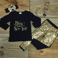 Bling In The New Year Gold Sequin Bouique