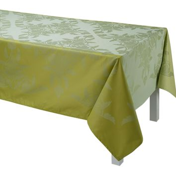 Syracuse Enduit Coated Table Linens in Green