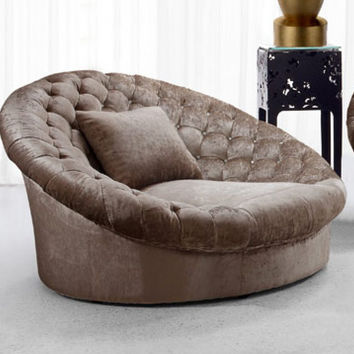 Elegent Upholstered Fabric Sofa Chair