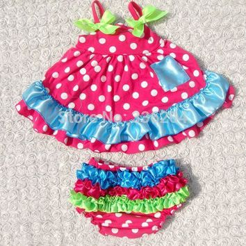 Baby Girls Tank Dress and Ruffled Bloomers Set: 10 Styles!