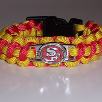Sanfransico 49ers  Paracord Bracelet Custom Made