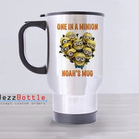 Travel Mug Custom Stainless Steel With Design Personalized Minion Character Printed Two Side