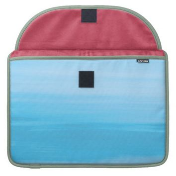 Blue ocean waves and pale pink sleeve for MacBook pro