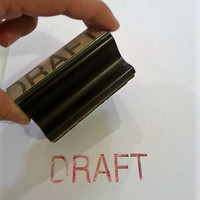 Vintage Large Rubber Stamp, Draft Office Supplies, Wooden Stamps, FREE US Shipping
