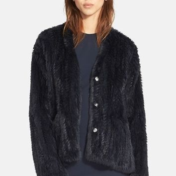 Women's Elizabeth and James 'Bianca' Genuine Rabbit Fur Jacket,
