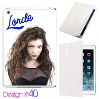 Custom # 40 IPad Air Smart Cover Lorde Leather Magnetic case