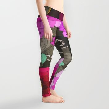 Concentric Floral Leggings by DuckyB (Brandi)