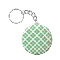 Floral Collage Pattern Keychain