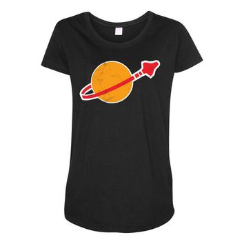 Lego Space Vintage Maternity Scoop Neck T-shirt