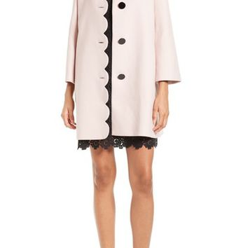 kate spade new york scallop twill coat | Nordstrom