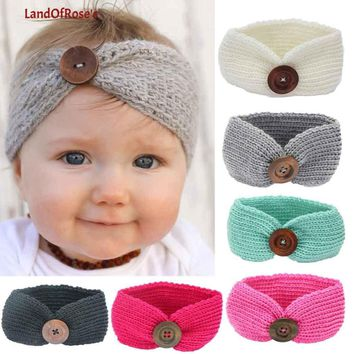 Baby Knit Crochet Top Knot Elastic Turban Headband