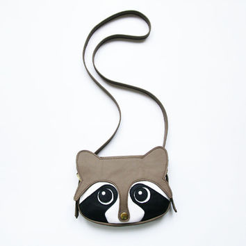 Raccoon Leather Bag by LaLisette on Etsy