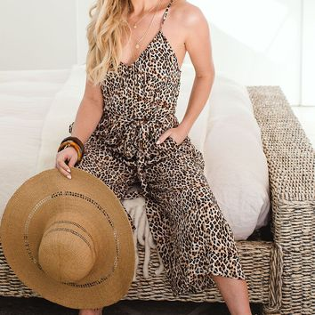 Drop Dead Gorgeous Leopard Jumpsuit