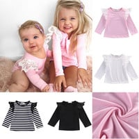 Solid Tops For Baby Girls