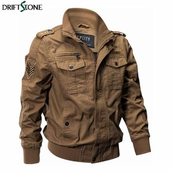 Men Military Pilot Jackets Bomber Cotton Coat Tactical Army Jacket Male Casual Air Force Flight Jacket Winter M-4XL