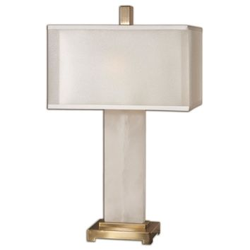Athanas Alabaster Lamp By Uttermost