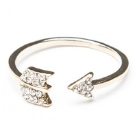 GOLD GEM ARROW RING