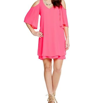GB Fan Fav Cold Shoulder Dress | Dillards
