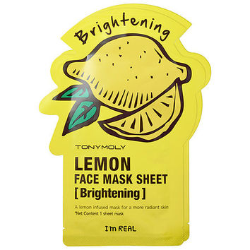 Tony Moly I'm Real - Lemon Face Mask Sheet - Brightening (2 pack)