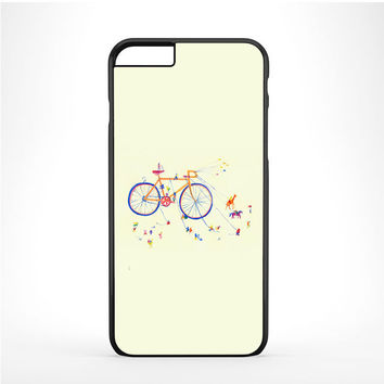 Watercolor bicycle colorful Iphone 6 Plus | 6s Plus Case