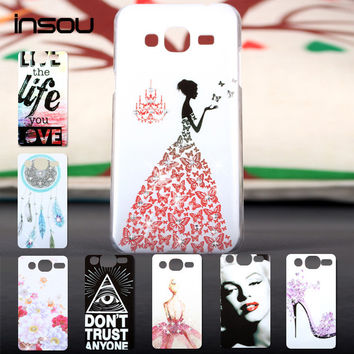For Samsung Galaxy J3 2016 Case Crystal Diamond 3D Bling Hard Plastic Cover Case For Samsung Galaxy J3 J300 Cell Phone Cases