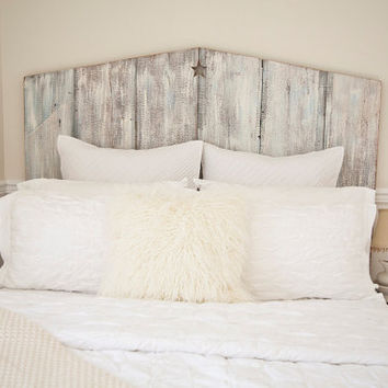 The Queen Tricia Reclaimed Barnwood Headboard