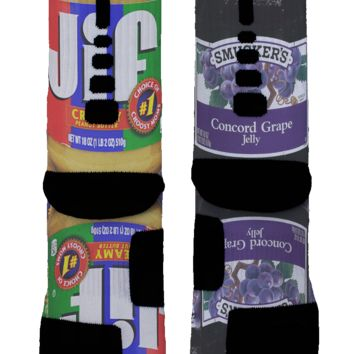 Peanut Butter Jelly Custom Nike Elite Socks