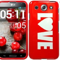 Red Love Design Hard Cover Case with ApexGears Stylus Pen for LG Optimus G Pro E980 by ApexGears