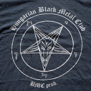 Hungarian Black Metal Club Pentagram Metal T-Shirt