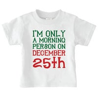 funny Christmas baby Onesuits (R), morning person december 15th toddler shirt, holiday one piece, baby girl clothes, baby boy, gift under 20