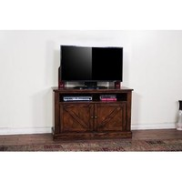 Sunny Designs Ranch House TV Console In Antique Bronze
