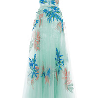 Floral Embroidered Tulle Gown | Moda Operandi