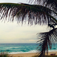 Beach Photography of Oceanfront Park. Turquoise and Teal Sea. Blue Ocean Waves.